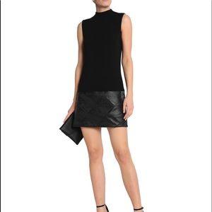 Bailey/44 black dress leather/cotton
